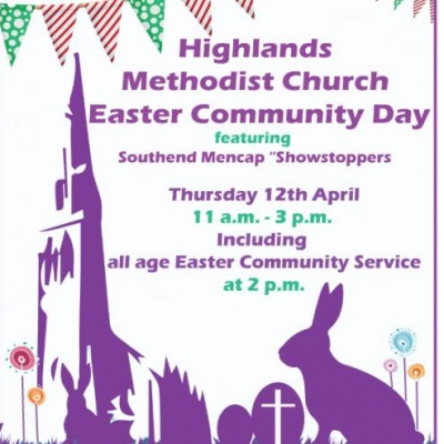 Highlands easter poster without hotcross buns